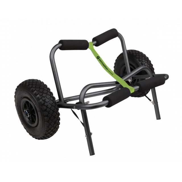"Perception - Large Kayak Cart with 10"" No Flat Tires, Green"