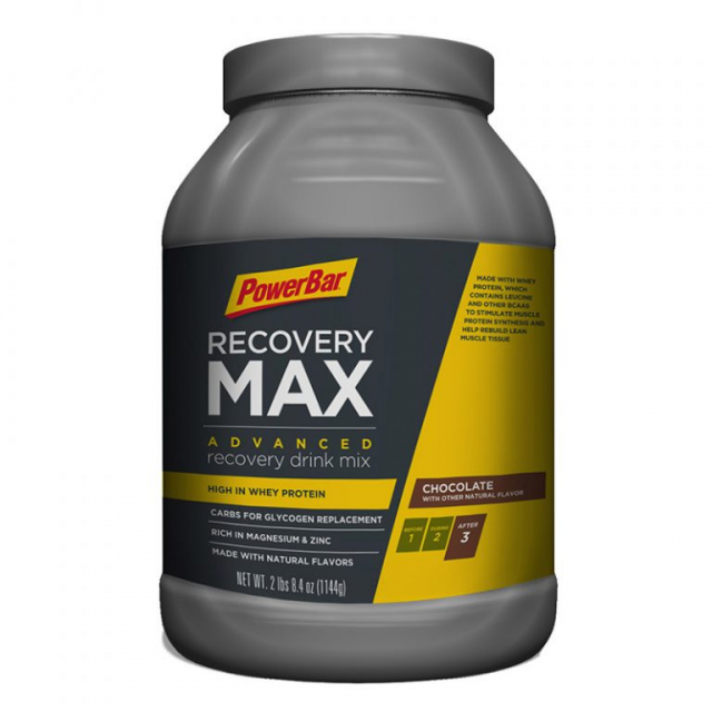 Powerbar - RecoveryMax Chocolate - 2 Lbs 8.4 oz / 1144 g. (13 serv can)