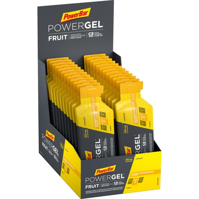 Powerbar - PowerGel Fruit Mango Passionfruit (50mg Caffeine) - 24 pcs