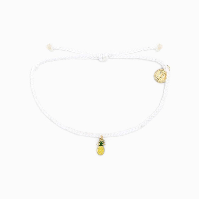 Pura Vida Bracelets - Gold Enamel Pineapple