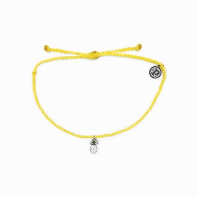 Pura Vida Bracelets - Silver Enamel Pineapple