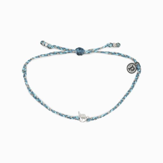 Pura Vida Bracelets - Silver Shaka Bracelet