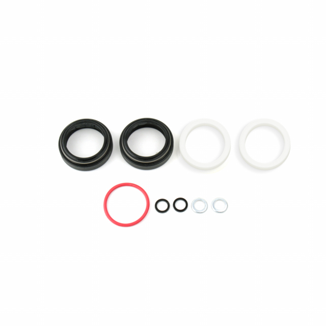 RockShox - Fork Dust Wiper Upgrade Kit - 32mm Black Flanged Low Friction Seals (Includes Dust Wipers, 5mm & 10mm Foam Rings) - SID/Revelation/Reba/Argle/Sektor/TORA/Recon/XC32