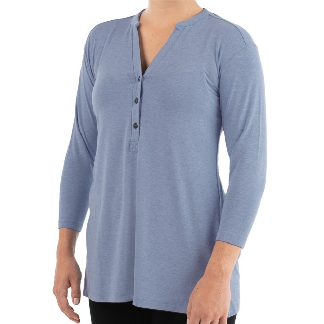 Free Fly Apparel - Women's Bamboo Flex Henley in Sioux Falls SD