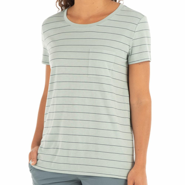 Free Fly Apparel - Women's Bamboo Channel Pocket Tee in Sioux Falls SD