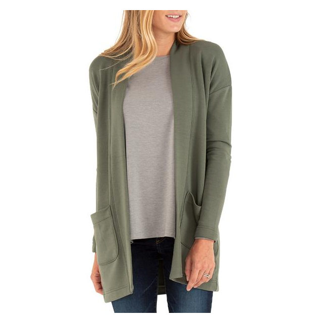 Free Fly Apparel - Women's Thermal Fleece Cardigan in Sioux Falls SD