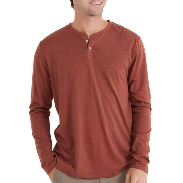 Free Fly Apparel - Men's Bamboo Heritage Henley in Sioux Falls SD