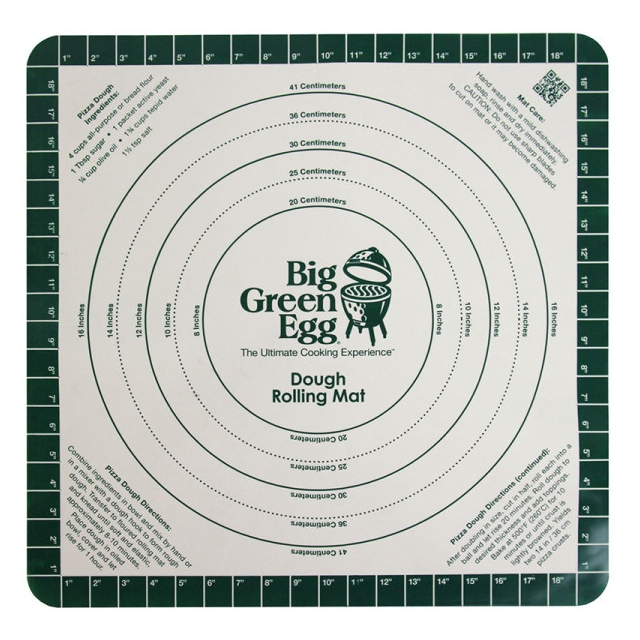 Big Green Egg - Silicone Pizza Dough Mat with Recipe