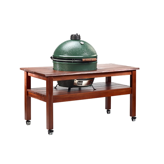 "Big Green Egg - Tropical Mahogany ""Multi Slat Design"" Table for Large EGG"