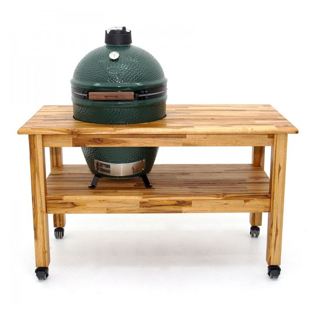 Big Green Egg - Tropical Solid Teak Table for XLarge EGG