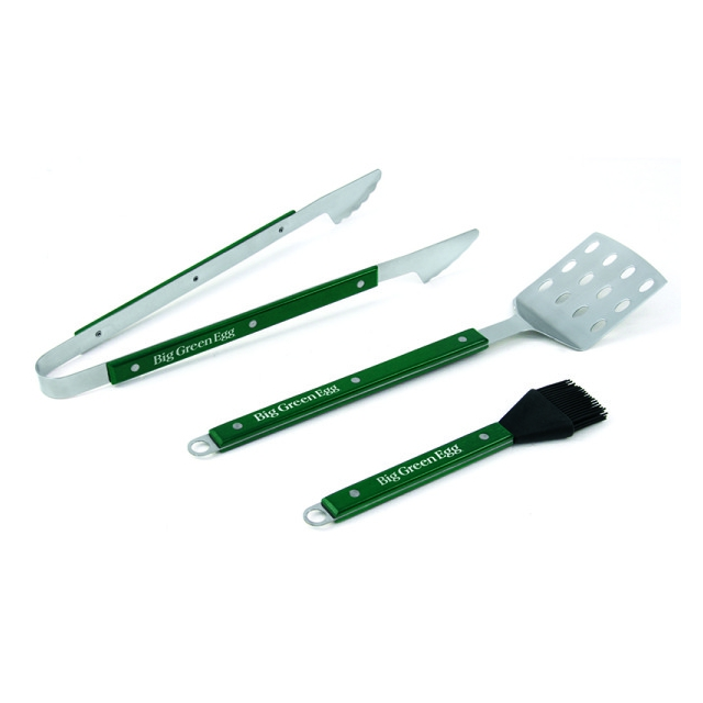 Big Green Egg - Professional Grade BBQ Tool set w/Wood Handles