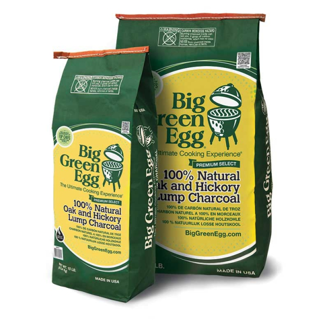 Big Green Egg - BGE 100% Natural Oak and Hickory Lump Charcoal (10lb / 4.5kg)