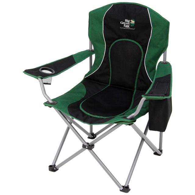 Big Green Egg   Recreational Folding Chair With Cooler, Cup Holder And  Carry Bag