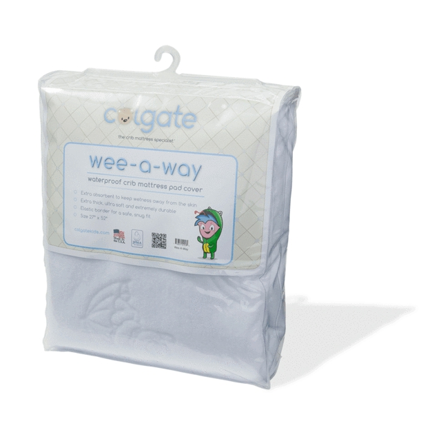 Colgate Kids Wee A Way Waterproof Fitted Crib Mattress Cover