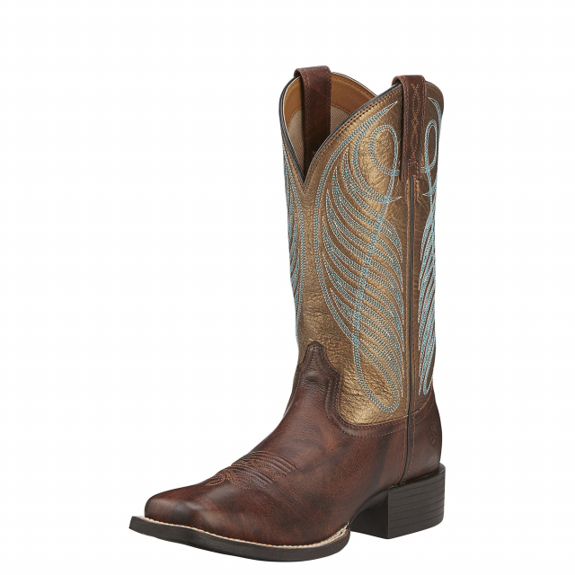 Ariat - Women's Round Up Wide Square Toe Western Boot in Lafayette CO