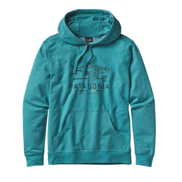 Patagonia - Men's Geodesic Flying Fish LW P/O Hooded Sweatshirt