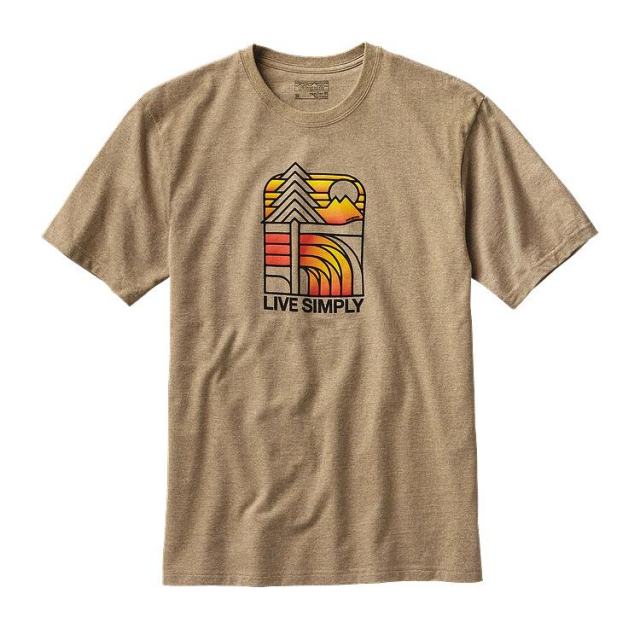 Patagonia - Men's Live Simply Landscape Rec. Cotton/Poly Responsibili-Tee