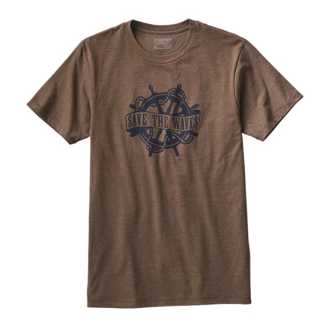 Patagonia - Men's Save the Waves Woodcut Cotton/Poly T-Shirt
