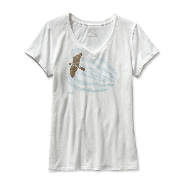 Patagonia - Women's Soaring Peregrine Cotton V-Neck T-Shirt