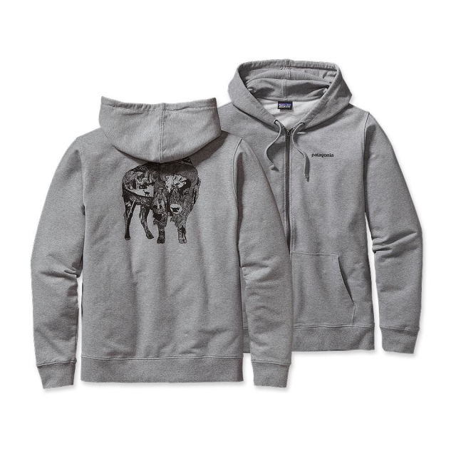 Patagonia - Men's Illustrated Buffalo MW Full-Zip Hooded Sweatshirt
