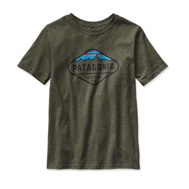 Patagonia - Boys' Fitz Roy Crest Cotton/Poly T-Shirt