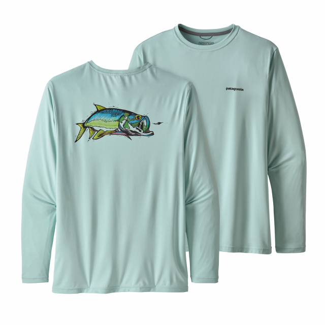 Men's L/S Cap Cool Daily Fish Graphic Shirt