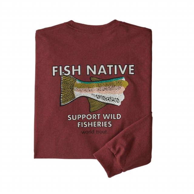 Men's L/S Fish Native World Trout Responsibili-Tee