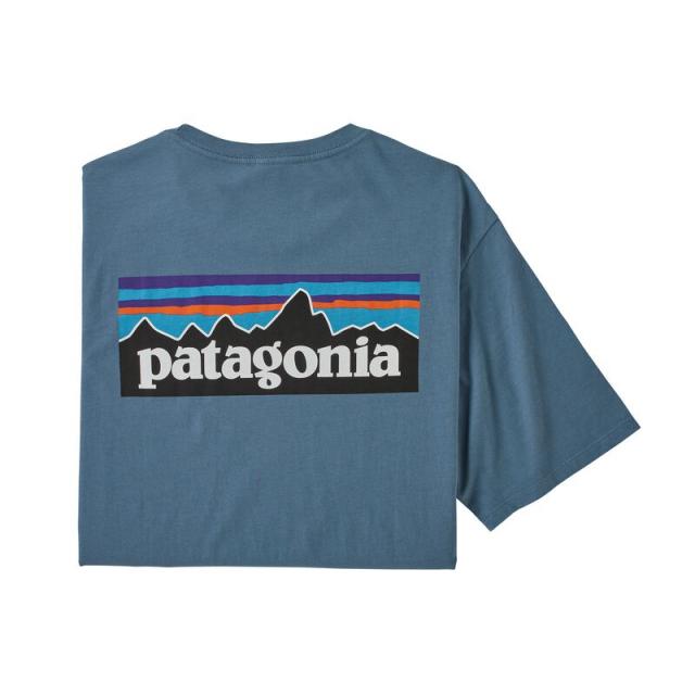 Patagonia - Men's P-6 Logo Organic T-Shirt in Chelan WA
