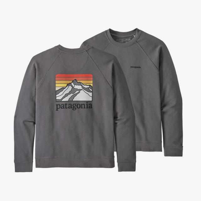 Men's Line Logo Ridge Organic Crew Sweatshirt