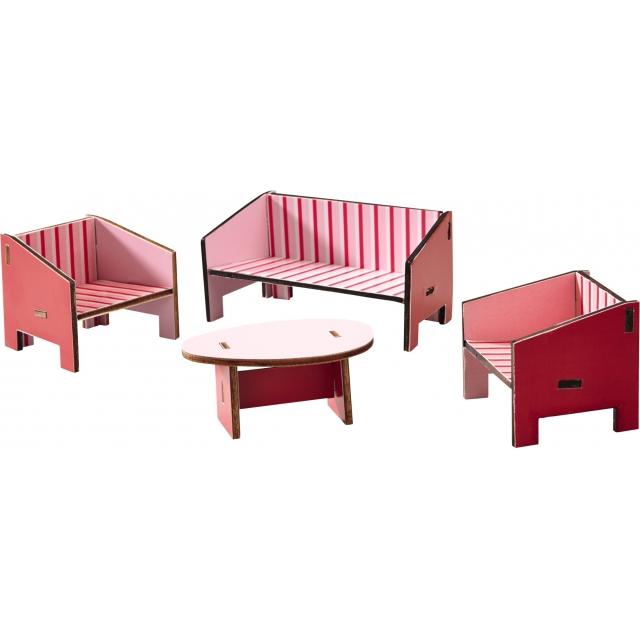 HABA - Little Friends - Dollhouse Furniture Parlor