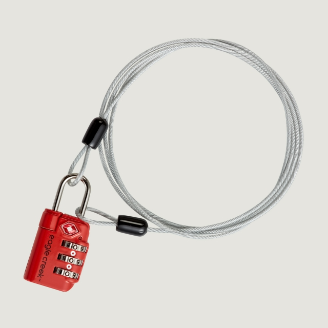Eagle Creek - 3-Dial TSA Lock & Cable
