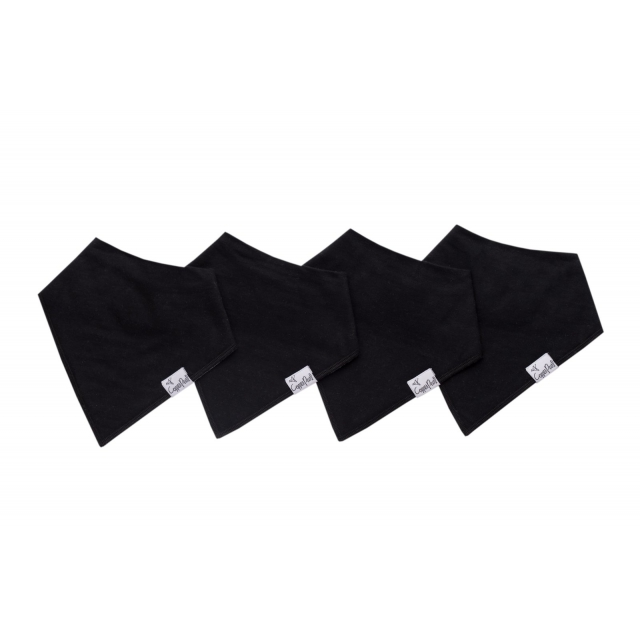 Copper Pearl - Black Basics Bandana Bib Set in Victoria Bc