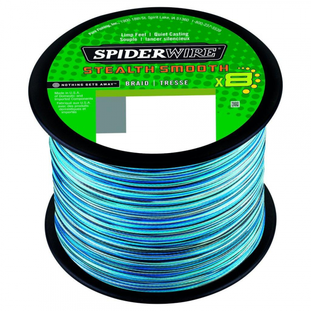 SpiderWire - Stealth Smooth8 | 200m | 18.0kg | 39lb | Model #SS8SBK30-BLCA SSM8 .19MM2000M 18.0K BLCM