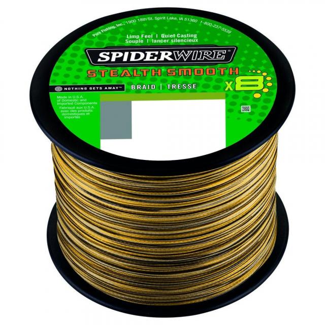 SpiderWire - Stealth Smooth8 | 2000m | 5.5kg | 12lb | Model #SS8SBK4-C SSM8 .06MM2000M 5.4K CAMO