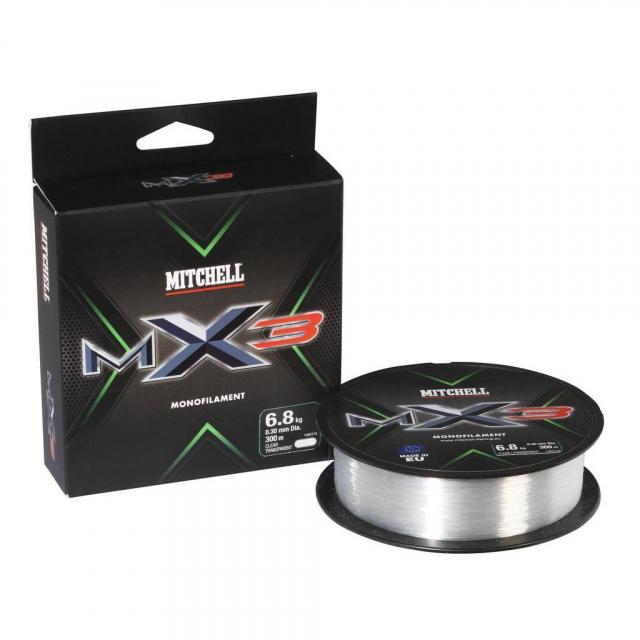 Mitchell - MX3 Mono   165yd   150m   10.6lb   4.8kg   Model #MAVS025-CL MIT MX3 CLR MONO 0.25 150M