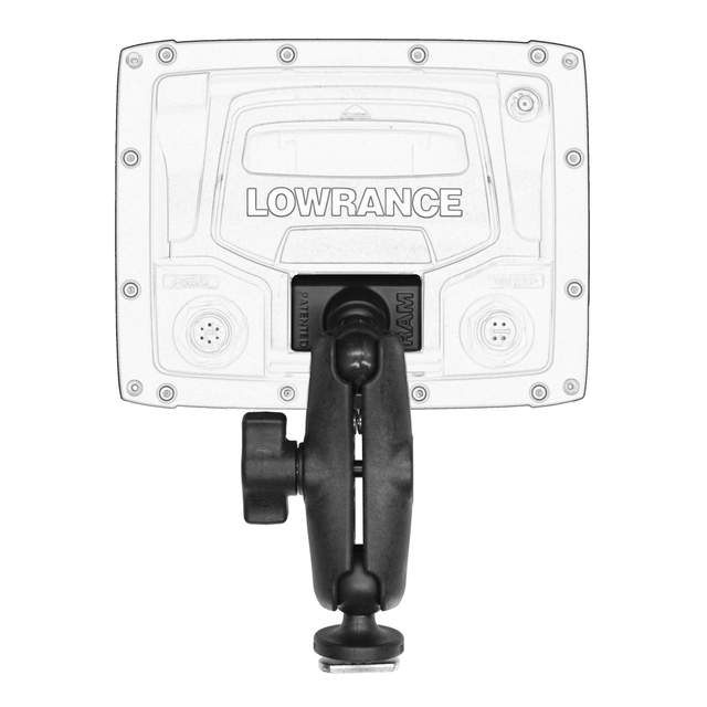 "YakAttack - Screwball Combo, Ball Mount for Lowrance Elite-4 & Mark-4 Series Fishfinders, Includes composite connector and 1"" Screwball."