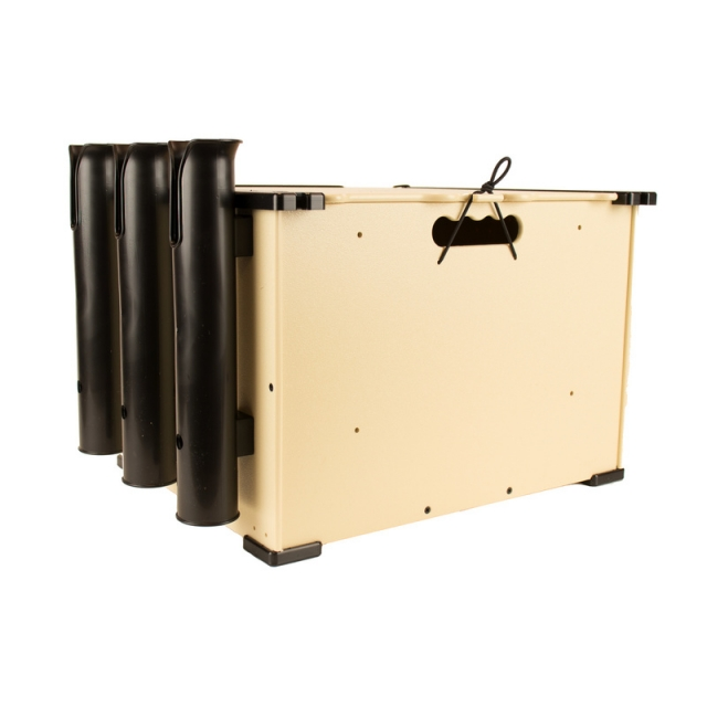 YakAttack - BlackPak, 12X16X11, Tan, Includes lid and 3 rod holders