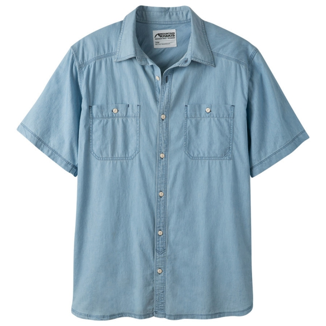 Mountain Khakis - Men's Ace Indigo Short Sleeve Shirt in Sioux Falls SD