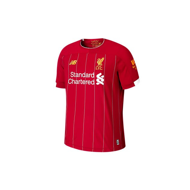New Balance Men S Liverpool Fc Home Ss Jersey No Epl Patch