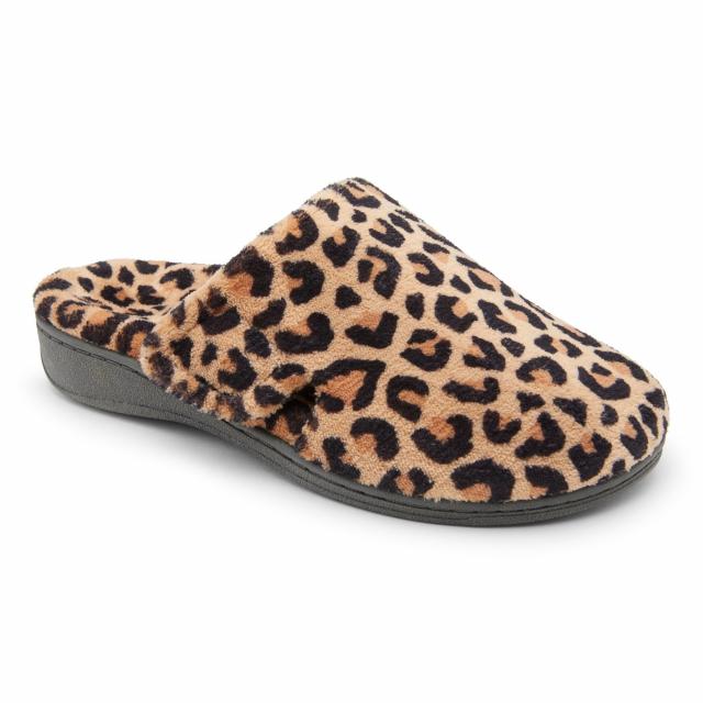 Vionic Brand - Women's Indulge Gemma Leopard Mule Slipper in St Joseph MO