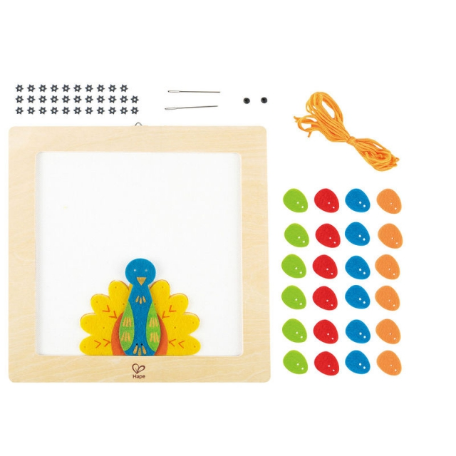 Hape - Proud Peacock Embroidery Kit