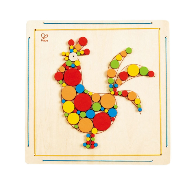 Hape - Rooster Mosaic