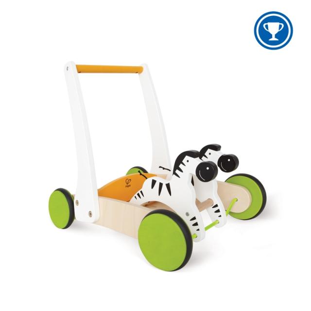 Hape - Galloping Zebra Cart
