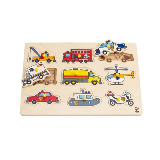 Hape - Emergency Vehicles Peg Puzzle