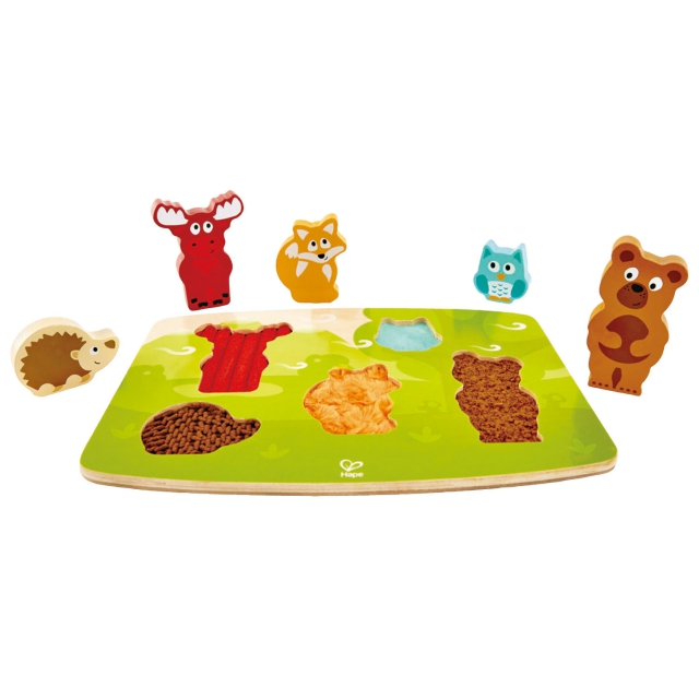 Hape - Forest Animal Tactile Puzzle