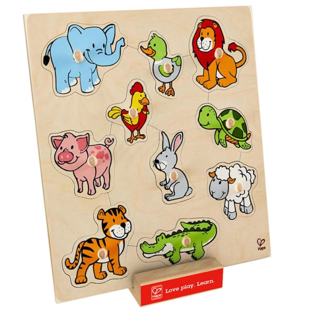 Hape - Friendly Animals Puzzle