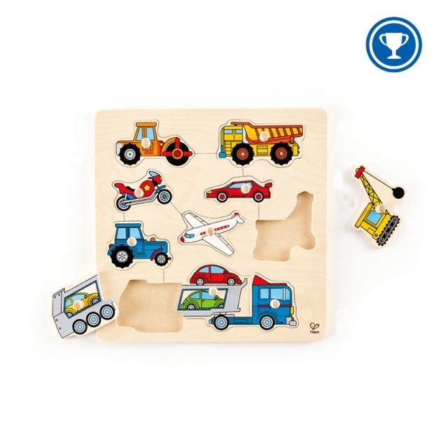 Hape - Vehicles Knob Puzzle