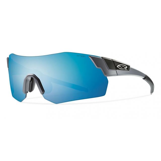 Smith Optics - PivLock Arena Max Matte Cement Blue Sol-X Mirror