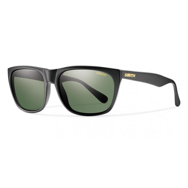 Smith Optics - Tioga Matte Black Polarized Gray Green