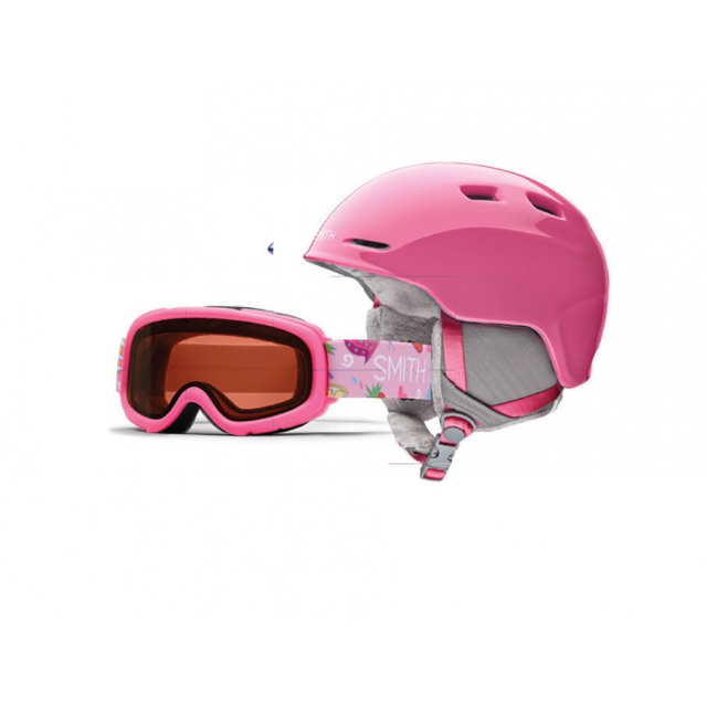 Smith Optics - Zoom/Gambler Combo Bright Pink Youth Medium (53-58 CM)